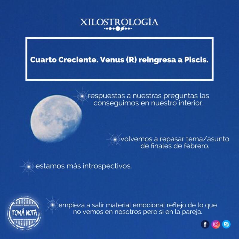 Toma Nota: Cuarto Creciente y VenusR reingresa en Piscis ...